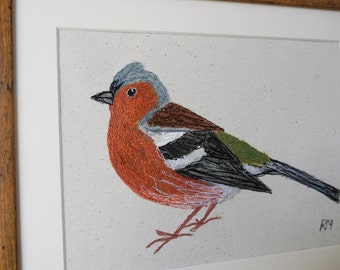 Embroidered Chaffinch Picture
