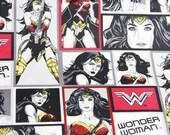 Fabric by the yard - Woder Woman (Batman vs. Superman design line)