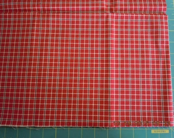Red and Black Checked Fabric by Windham Fabrics