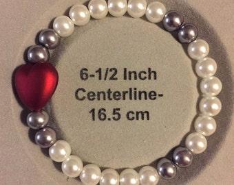 Single heart bead bracelet