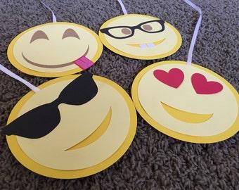 Large Emoji inspired hanging decor, party decoration