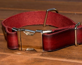 The Adjustable leather dog collar