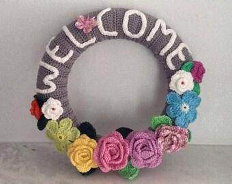 Crochet Welcome Wreath