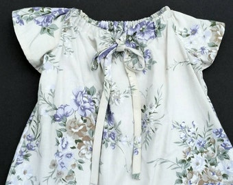 Vintage style Size 3 Girls Dress. Handmade with vintage fabric.