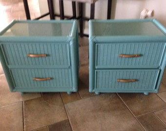 Nightstands, side tables, hand painted, cottage, coastal