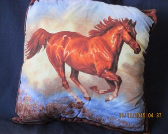 Beautiful Arabian horse running Pillow