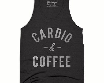 Coffee Tank Top - Cardio and Coffee Tank - Running Tank Top - Running Shirt - Funny Work Out Tank - But First Coffee