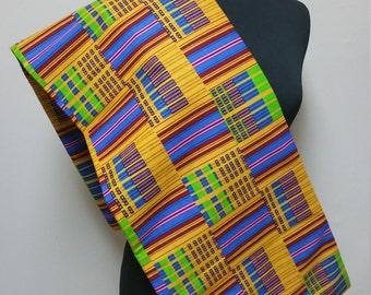 Ghanaian Kente cloth/ African Fabric/ Kente Print sold by the yard
