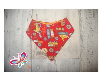 flannel bandana with construction truck