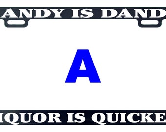 Candy is dandy funny assorted license plate frame