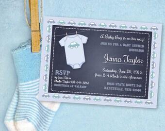 Custom Baby Boy Shower Invitation