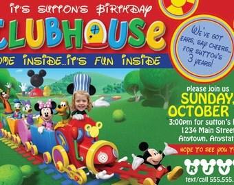 Mickey Mouse Clubhouse Custom Birthday Invitation