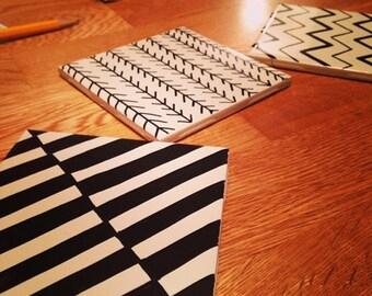 Geometric Coasters - Set of Four