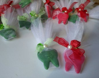 20 tooth soap favor, teeth soap, first tooth favors, tooth fairy party favors, first tooth party favors,