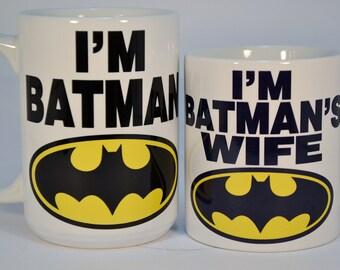 Wedding Gift, Wedding Present, Newly Married,Batman Mugs,personalized wedding gifts,Batman mugs with names,Batman wedding mugs