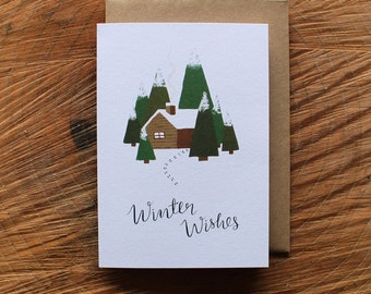 Pack of 6 Illustrated Winter Wishes Cards