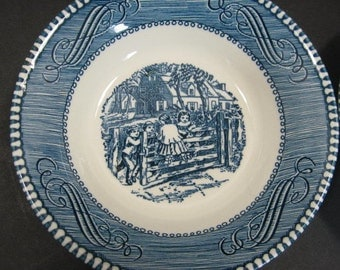 Royal China Currier Ives The Old Farm Gate Berry 5.75in Dessert Bowl Children