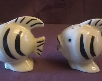 Vintage Tropical Fish /Gold Fish Salt and Pepper Shakers, 1950's