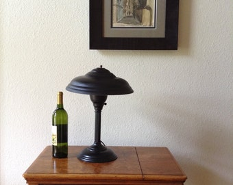 Vintage Atomic Lamp, Mid Century Modern Lamp, Desk Lamp, Table Lamp, Black Lamp, 3 Way Lamp