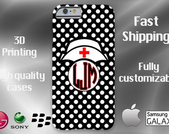 Nurse Monogram Cell Phone Case, iPhone 6 case, Note 4 cell case, nurse phone case, iPhone 6 plus cell phone case, iPhone 6 plus case, S6