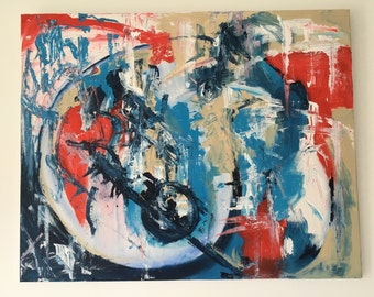 Original Abstract Painting by Lin Cremore / Acrylic Painting 'All that Jazz' Sorry Only ships within UK