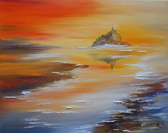 "Painting ""Mont Saint Michel"""