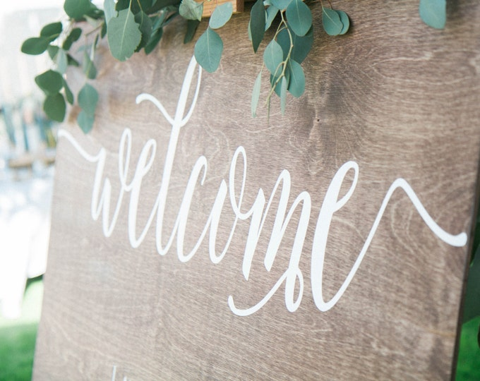 Featured listing image: Welcome wedding sign Wedding welcome sign Wood Welcome Sign Welcome Sign for wedding welcome sign wood sign wedding sign 36x24 wedding sign