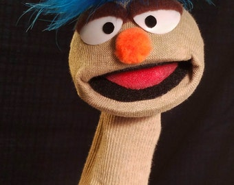 Adorable Muppet Style Sock Puppet - One of a kind lovable sock puppet.