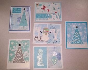 Winter Joy Christmas Card Set of 24
