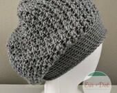 The Reagan | Crochet Slouchy Beanie, Women's Crochet Hat, Cross Stitch Beanie, Women's Fashion, Fall Fashion