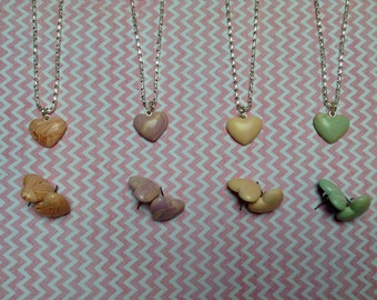 Polymer Clay Heart Earrings and Necklace Jewellery Set