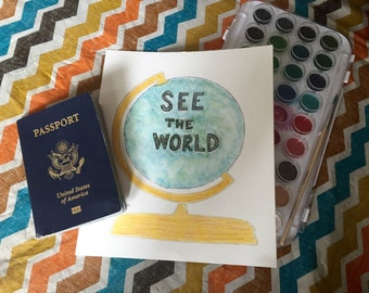 See The World Print