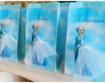Personalised Frozen Elsa Birthday Party Loot Favour Bag