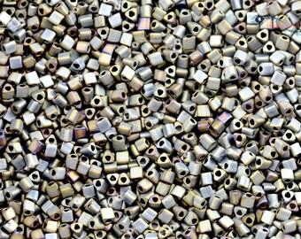 TOHO 11/0 Triangle Beads - Matte Color Iris Gray [TG-11-613]