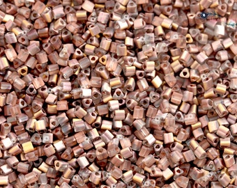 TOHO 11/0 Triangle Beads - HYBRID Frosted Apollo [TG-11-Y851F]