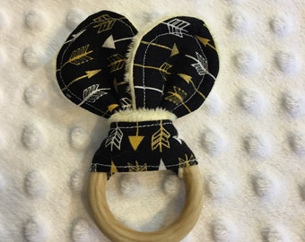 Arrow bunny Ear Teething Ring