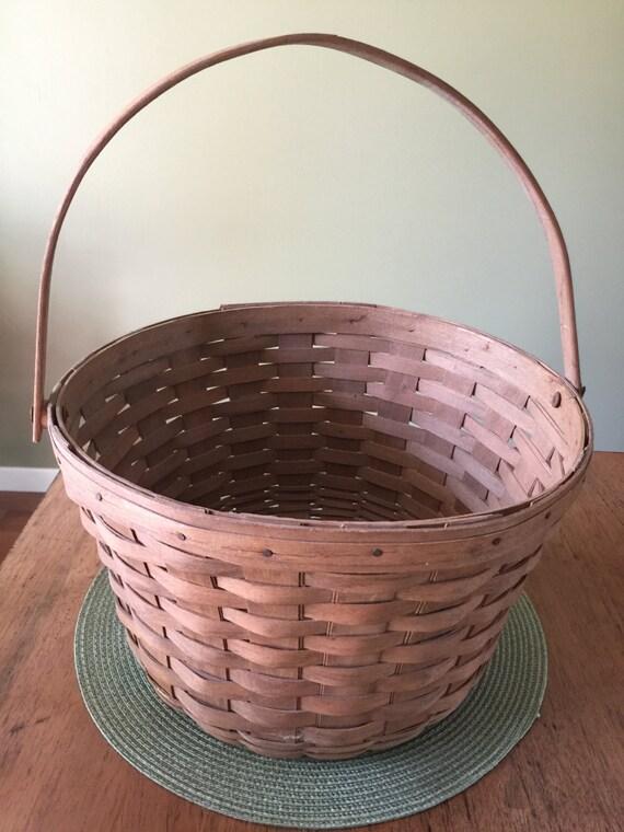 Handmade Longaberger Basket Liners : Vintage handmade longaberger fruit basket