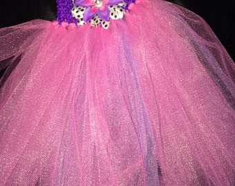 Pink/purple tutu with flower