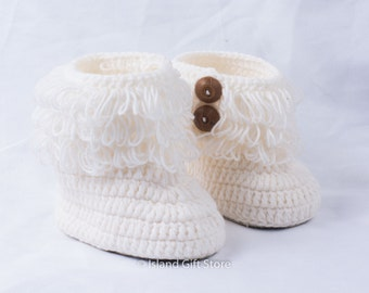 Crochet baby shoes, Baby booties, Newborn baby booties, Crib shoes, Baby girl shoes, Baby gift