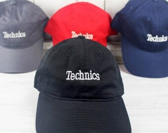 New Technics Logo  Baseball Cap Curved Bill Embroidered DJ  Dad Hat 100% Cotton
