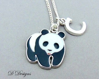 Panda Necklace, Panda Necklace, Panda Jewellery, Personalised Panda, Panda Gifts, Necklace, Sterling Silver Necklace