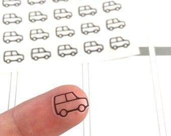 54 Car Planner Stickers, Travel Planner Stickers, Transparent Planner Stickers, Clear Planner Icons, Planner Sticker