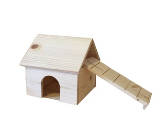 Natural Wood Dwarf Hamster House