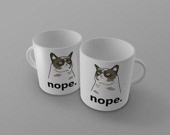 Grumpy Cat Nope Mug