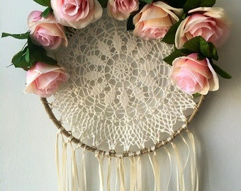 Bohemian Rose Dream Catcher