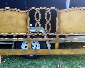 French Provincial King Size Headboard Vintage