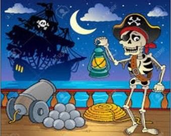 "2"" x 3"" Magnet Cartoon Pirate ,Children Magnet"
