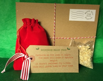 Santa Christmas Eve FATHER CHRISTMAS reindeer food and christmas eve box