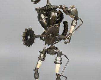 Scrap Metal Sculpture Model Recycled Handmade Art Robot 1
