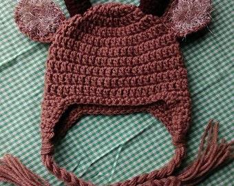 Crochet Baby Deer Hat 0-3M